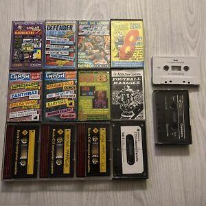 14 X Zx Spectrum Magazine Demo & Cover Tapes Mix Joblot Bundle,