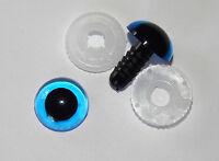 nach EN 71-3 Sicherheitsaugen 3 PAAR BLAU mit Pupille 12 mm aus Kunststoff