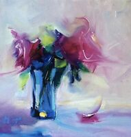 Flowers Still Live signed original oil painting on canvas