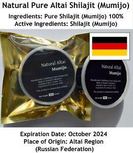 Mumijo Shilajit   Altaisch   100 Gramm   Reines Harz   Natürlich   Zertifiziert