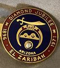 Vintage Shriners Diamond Jubilee Arizona 1896 1971 EL  ZARIBAH Tie Clip Clasp