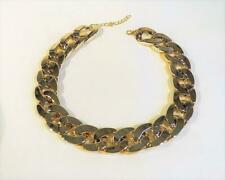 CG5973...GOLD LARGE CHAIN LINK CHOKER NECKLACE - FREE UK P&P