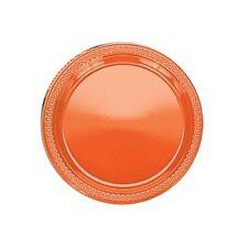 20 assiettes plates en plastique orange Ø 17.8 cm 0933 decoration de table fetes