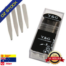 Silver Business Metal Collar Stay 36 Pic (2.5,2.25,3,2.75) Inches Y&G CS3014