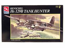 AMT/ERTL Henschel Hs 129B Tank Hunter 1/48 Scale Plastic Airplane Model Kit