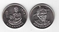 SWAZILAND - 1 LILANGENI UNC COIN 1974 YEAR KM#13