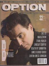 option magazine #32 david byrne krs-1 the ex evan parker lindsay cooper