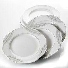 "6-piece 9"" Porcelain Dinner Set China Dessert Side Salad Pasta Plate Octagonal"