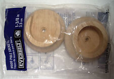 """ONE PAIR """"EVERBILT"""" WOOD POLE SOCKETS 1 3/8 in. (3.5 cm.) BRAND-NEW,SEALED"""