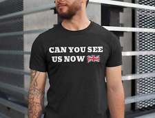 Can You See Us Now Union Jack Glasgow Rangers Champions 55 T-Shirt Shirt