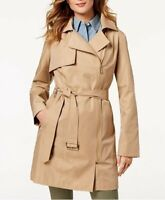 Michael Kors Belted Asymmetrical Women's Trench Coat | British Khaki - XL