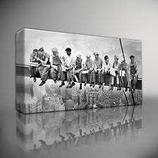 LUNCH A TOP SKYSCRAPER NEW YORK WORKERS - PREMIUM GICLEE CANVAS ART