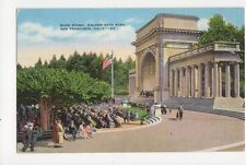 Band Stand Golden Gate Park San Francisco USA Vintage Postcard 138a