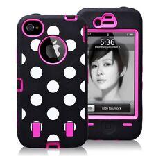 HIGH-IMPACT COMBO Hartgummi - Case Hülle Tasche für iPhone 5 5G PINK