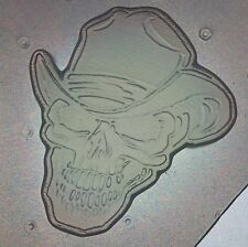 Flexible Mold Cowboy Skull Resin, Chocolate Or Soap Mould