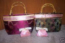 Very Classy! CHINESE Satin Floral Handbag + Coin Purse