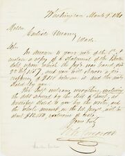 Banker William Corcoran signed letter 1861 re debt - Corcoran Gallery of Art