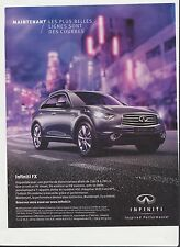 SUBARU INFINITI FX  Pub de Magazine .Magazine advertisement. 2012