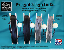 Outrigger Line Kit Pre-rigged (4 Line Set, Two-50 ft lines, Two-30 ft lines)