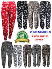 New Ladies Printed Harem Pants Cuffed Bottom Girls Ali Baba Women Trousers 6-18