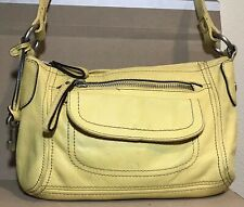 Fossil ZB2868 LLV HANOVER Soft Luxurious Leather Shoulder Yellow Bag Fob Pockets