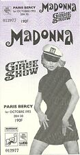 RARE / TICKET CONCERT - MADONNA LIVE A PARIS ( FRANCE ) 1993 COMME NEUF LIKE NEW