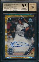 BGS 9.5/10 RILEY GREENE AUTO 2019 Bowman Chrome GOLD WAVE REFRACTOR /50 GEM MINT