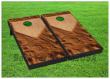 Cornhole Get it to Home Plate Baseball Boards BEANBAG TOSS GAME w Bags Set 1346