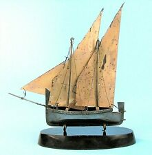 VINTAGE SILVER MODEL SHIP SCHOONER HALLMARKED 925 SILVER