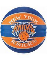 Spalding NBA Team New York Knicks Durable Rubber Cover Outdoor Basketball