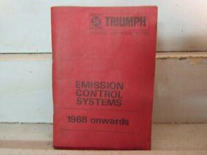 TRIUMPH 1968-69 EMISSION CONTROL SYSTEMS MANUAL for SPITFIREMK.3,TR.4A-GT6,TR250