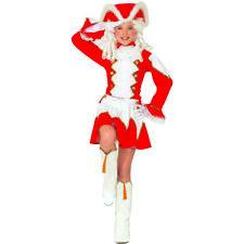 FUNKENMARIE KOSTÜM & HUT KINDER Karneval Garde Uniform Kleid Mädchen Rot # 9676