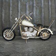 XL Blechmodell Motorrad 28cm beige Metallmodell Harley Knucklehead Chopper
