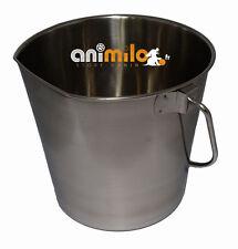 Seau inox pour chien, 8 litres