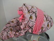 PINK CAMO PRINT CAR SEAT SLIP COVER/Evenflo/Graco/BabyTrend/Most brands