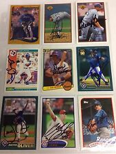 Texas Rangers MLB auto autograph baseball card LOT X9 Buddy Bell Charlie Hough +