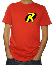 Batman And Robin Boy Wonder Logo Superhero Funny Costume Party Mens Red T-Shirt