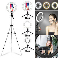 LED Selfie Ring Light Photography Studio Makeup Desktop Phone Camera With