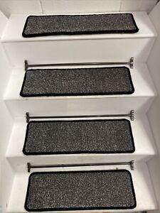 14  CARPET STAIR TREADS, BLEACH CLEANABLE, 60cm X 20cm HARDWEARING