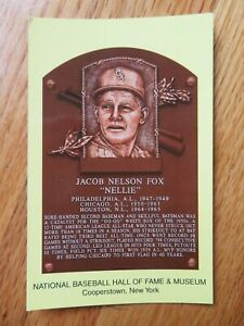 NELLIE FOX Induction HALL OF FAME Plaque August 3, 1997 CANCELED Stamp WHITE SOX