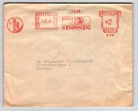 Netherlands 1948 Metered Cover / Light Fold / Damaged Flap - Z13573