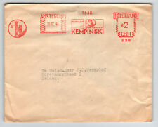 Netherlands 1948 Metered Cover / Light Fold / Damaged Flap - Z13573