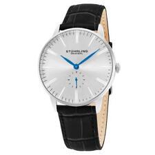 Stuhrling 849 01 Maestro Quartz Black Leather Strap Mens Watch