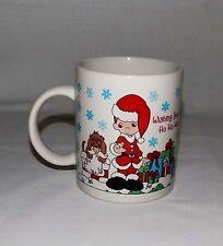 """Precious Moments Christmas Coffee Mug """"Wishing You A Ho! Ho! Ho!"""""""