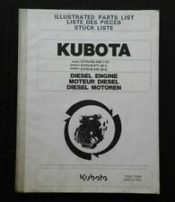 GENUINE KUBOTA D-1703- B BG- KTC SAE DIESEL ENGINE PARTS MANUAL CATALOG NICE