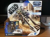 The Mandolorian Star Wars Mission Fleet Speeder Bike NEW Hasbro Baby Yoda