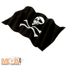 Jolly Roger Pirate Flag Fancy Dress Caribbean Skull Crossbone Costume Party Prop