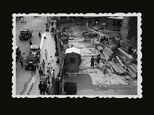 1950s Man LABOR CAR TRUCK CONSTRUCTION ARIEL VIEW Vintage Hong Kong Photo #692