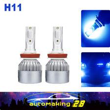 H11 H9 H8 Cree COB LED Headlight Bulb Kit Blue High-Low Beam Fog Light 12000K