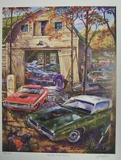 DODGE CHARGER R/T CHALLENGER ART PLYMOUTH CUDA B E 1969 1970 1971 MICHAEL IRVINE